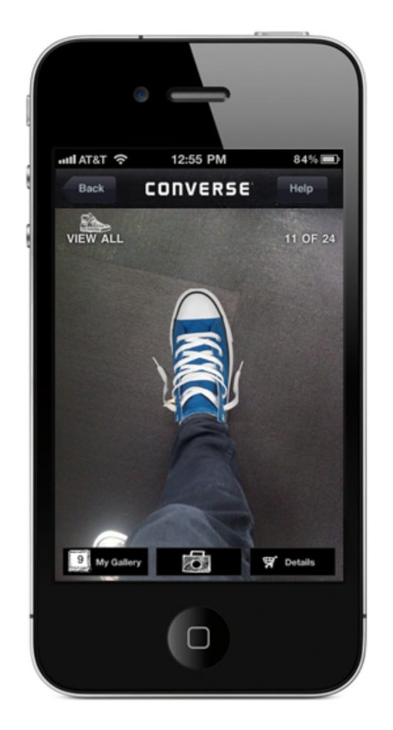 converse-sampler app-uses-AR